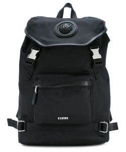 Versus | Logo Plaque Backpack Polyamide/Cotton/Calf Leather