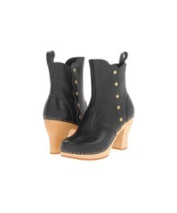 Swedish Hasbeens | Button Boot Nature Sole Womens Pull-On Boots