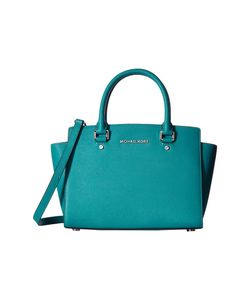 Michael Michael Kors | Selma Medium Top Zip Satchel Peacock Satchel