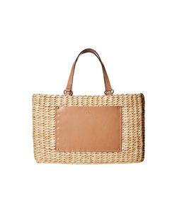 Frances Valentine | Woven Pocket Medium Tote Natural/Natural Tote Handbags