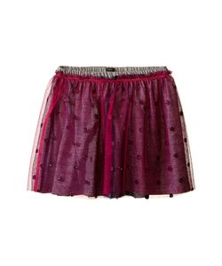 Ikks | Layered Tulle Skirt Over Jersey Fabric With Glitter Polka