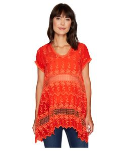 JOHNNY WAS | Lilano Tunic Electric Coral Womens Blouse