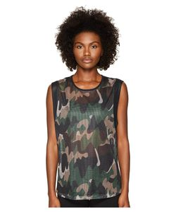 Monreal London | Workout Top Moss Camouflage Womens Clothing