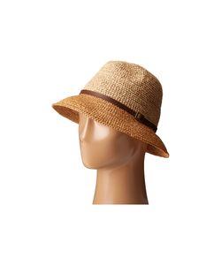 Scala | Crochet Raffia Six-Way Fedora Tea Fedora Hats