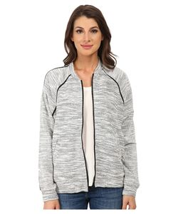 DKNY Jeans | Textured Terry Mesh Trim Bomber Polar Cream Womens