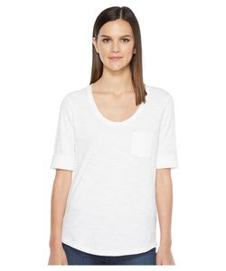 LILLA P | Elbow Sleeve Scoop Neck Womens Clothing