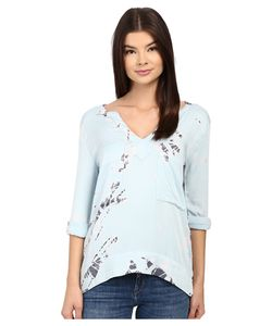 Gypsy 05 | Long Sleeve V-Neck Top Sky Womens Long Sleeve Pullover