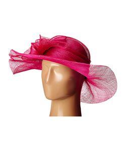 Scala | Sinamay With Large Bow Fuchsia Headband