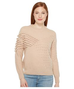 INTROPIA | Knitted Stitches Sweater Nude Womens Sweater