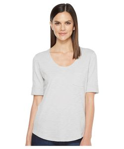 LILLA P | Elbow Sleeve Scoop Neck Mist Womens Clothing
