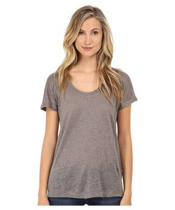 C & C California | Campc California Linen Jersey Roll Sleeve Tee Light Faded