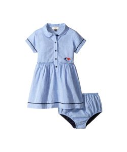 Armani Junior | Linen Dress With Bloomer Infant Solid Bright