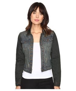 Stetson   Denim Shrunken Jacket Overdyed Womens Coat