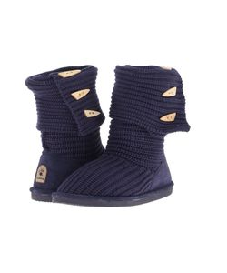 Bearpaw | Knit Tall Indigo Womens Pull-On Boots