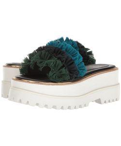 Suecomma Bonnie | Frill Detailed High Platform Womens Sandals