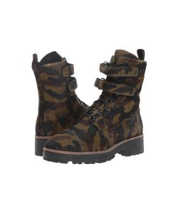 Shellys London | Tyra Camo Womens Lace-Up Boots