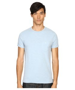 TODD SNYDER | Weathered Button Crew Tee Pale Surf Mens T
