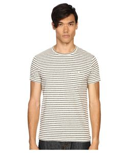 TODD SNYDER | Striped Weathered Button Pocket Crew Tee Mens
