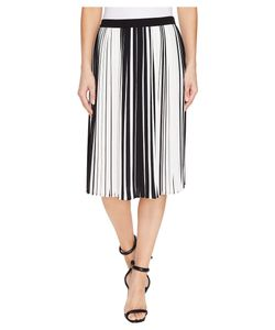 Vince Camuto | Linear Accordion Stripe Pleated Skirt Rich Womens