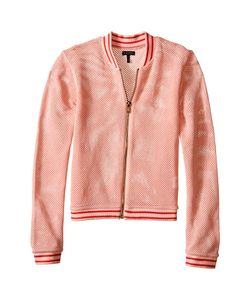 Ikks | Mesh Letterman-Style Jacket With Sequined K Patch On Chest