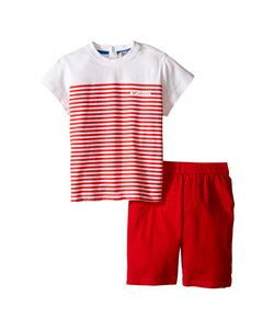 Armani Junior | T-Shirt With Stripes And Shorts Infant