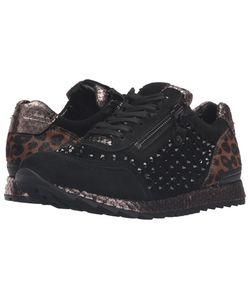 Kennel & Schmenger   Kennel Amp Schmenger Mixed Media Trainer Leopard Womens Shoes