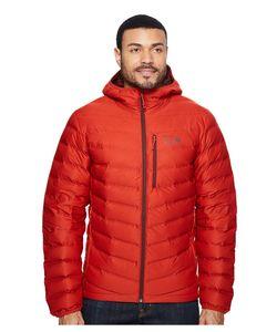 MOUNTAIN HARDWARE | Stretchdown Hooded Jacket Dark Fire Mens Coat