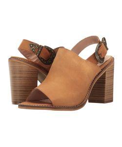 Coolway | Jadeen Cognac Oiled Leather Womens Sandals