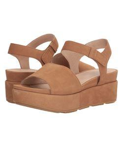 Eileen Fisher   Jasper Camel Tumbled Nubuck Womens Sandals