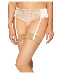 else | Yasmine Silk Lace Hipster With Removable Suspenders Ivory Womens
