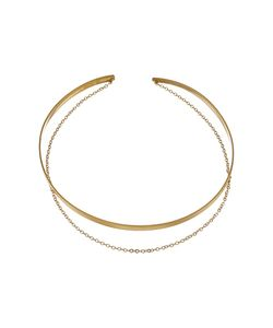Dogeared | Plain Collar Choker W Draped Chain Necklace Dipped