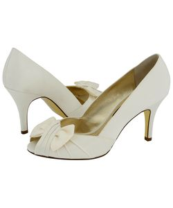 Nina | Forbes Ivory Luster Satin Womens Bridal Shoes