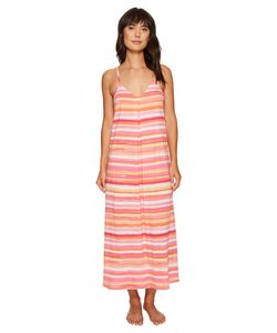 Lauren Ralph Lauren | Striped Maxi Gown Coral Stripe Womens Pajama