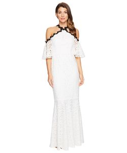 JILL JILL STUART | Chemical Lace Halter Off The Shoulder Dress
