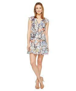 Adelyn Rae | Lydia Woven Printed Frill Dress Multi Womens