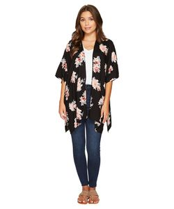 Angie | Open Front Dolman Sleeve Printed Kimono Womens Clothing