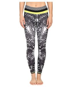 Pink Lotus   Burst Locate Printed Leggings With Contrast Band