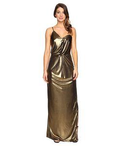 Halston Heritage   Asymmetrical Strap Jersey Gown Womens Dress