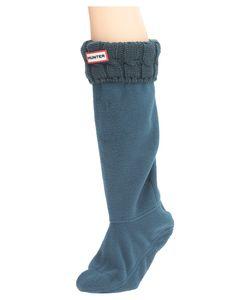 Hunter | 6 Stitch Cable Boot Sock Ocean Womens Crew Cut