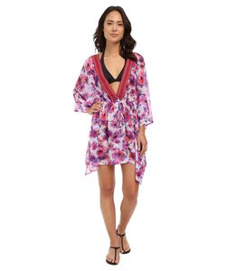 Saha | Flora Mesh Kaftan Cover-Up Womens Swimwear