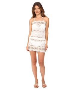 Queen & Pawn | Queen Amp Pawn Kea Lace Embroidered Strapless Beach Dress