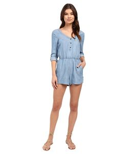 Rvca | Mobile Jumper Chambray Womens Jumpsuit Rompers One Piece