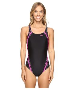 Speedo | Print Quantum Splice One-Piece Power Womens Swimsuits One