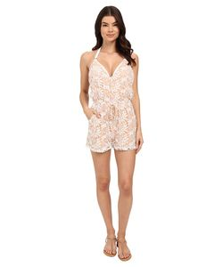 6 Shore Road by Pooja | Weekend Lace Romper Cover-Up Moonlight