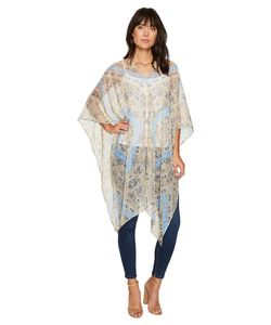 BCBGeneration | Charming Paisley Poncho Parchment Womens Clothing