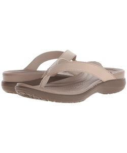 Crocs | Capri V Flip Chai/Walnut Womens Sandals