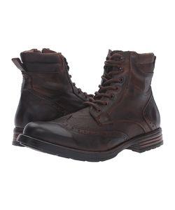 STEVE MADDEN | Gastonn Cognac Mens Lace-Up Boots