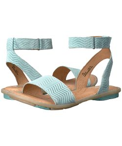 Born   Tegal Turquoise Suede Womens Dress Sandals