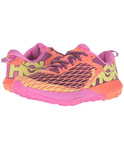 HOKA ONE ONE | Speed Instinct Neon Coral/Plum Womens Shoes