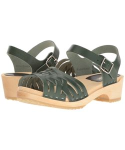 Swedish Hasbeens | Braided Low Deep Womens Sandals